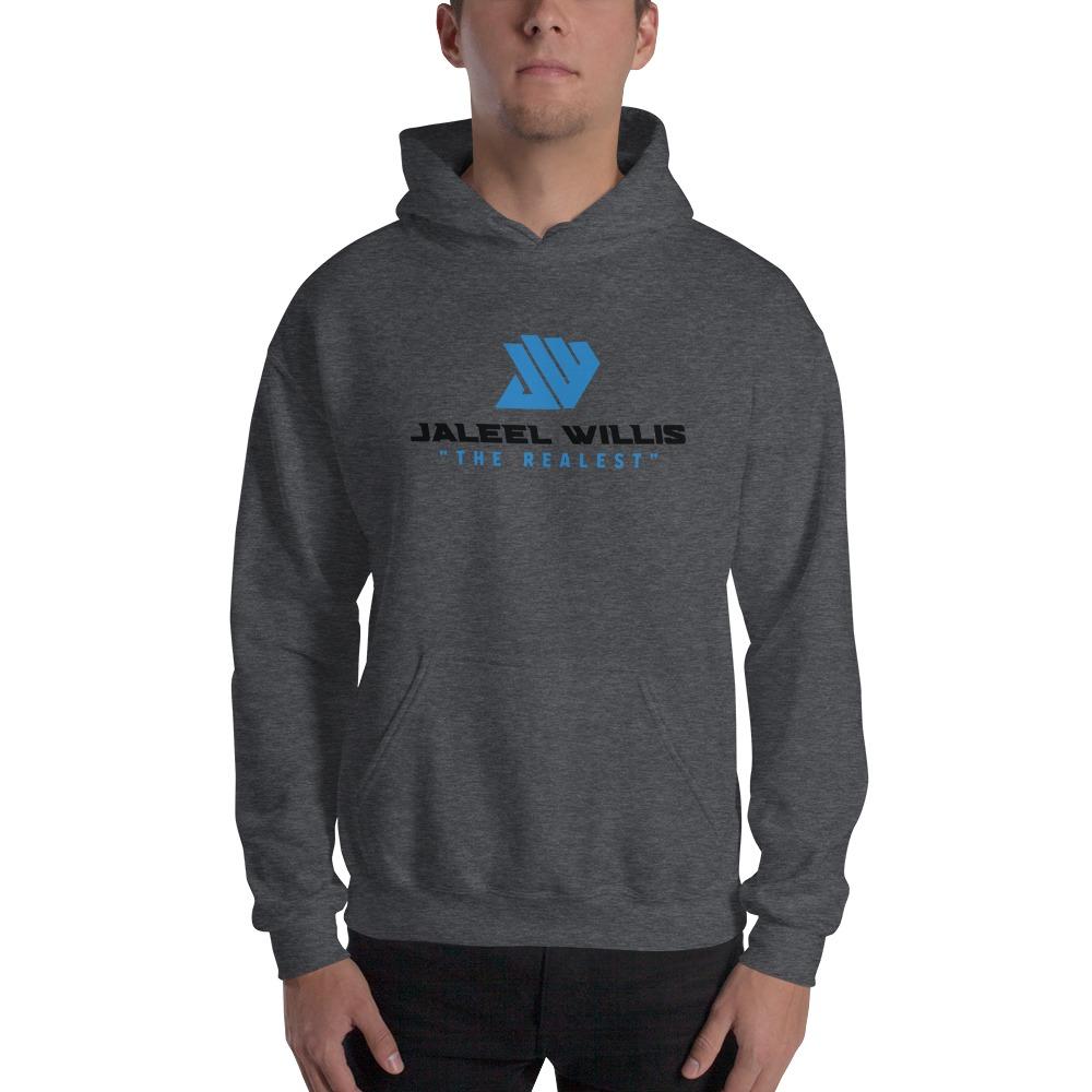 The Realest by Jaleel Willis Men's Hoodies, Blue Logo