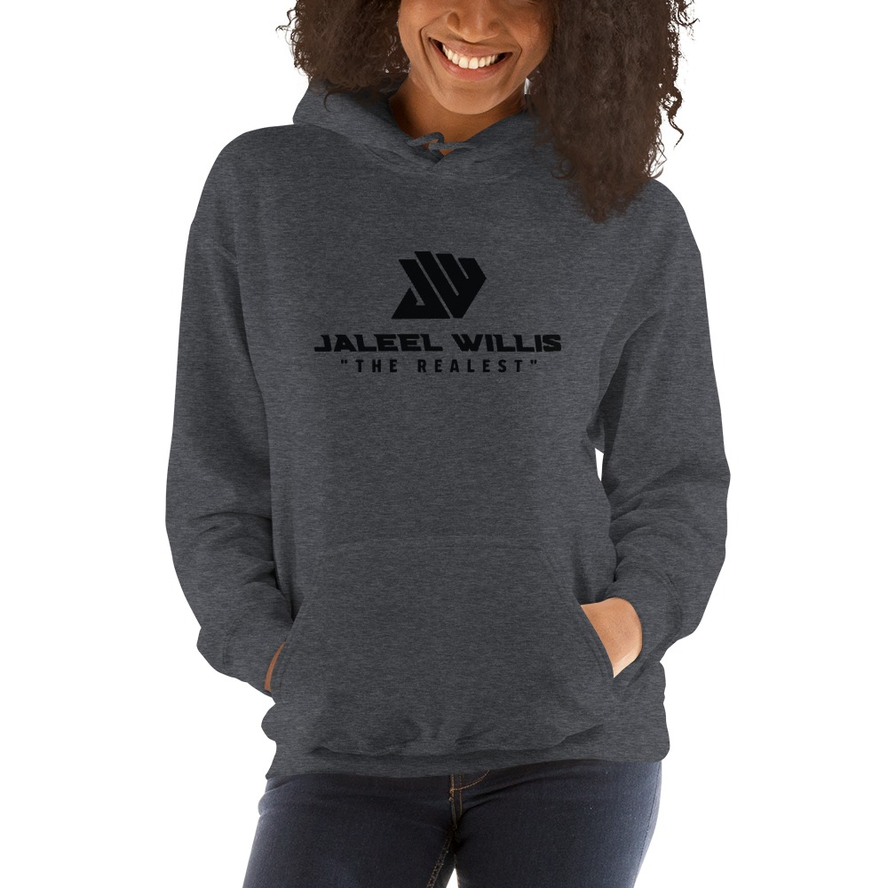 The Realest by Jaleel Willis Women's Hoodies, All Black Logo