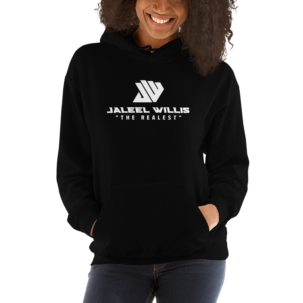 The Realest by Jaleel Willis Women's Hoodies, All White Logo