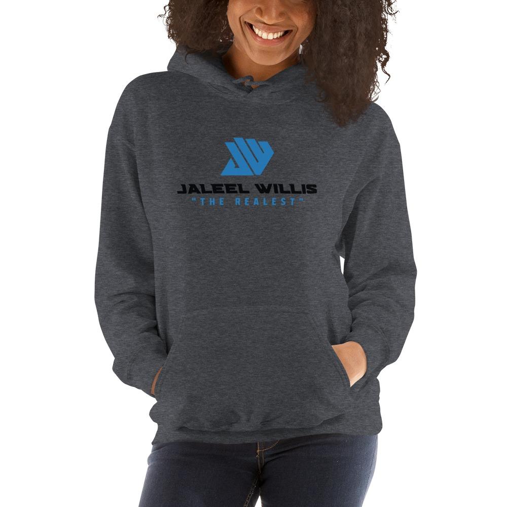The Realest by Jaleel Willis Women's Hoodies, Blue Logo