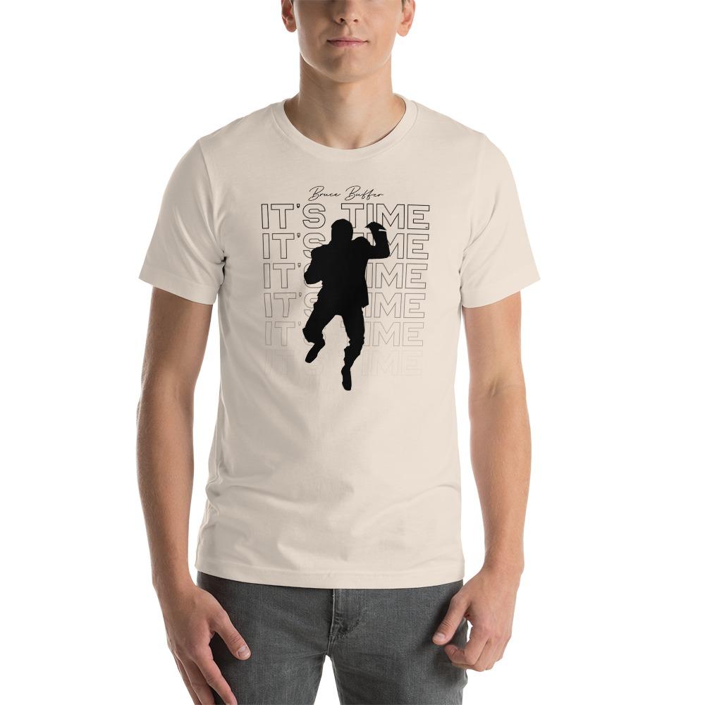 It's Time™ by Bruce Buffer, Men's T-Shirt, Black Logo