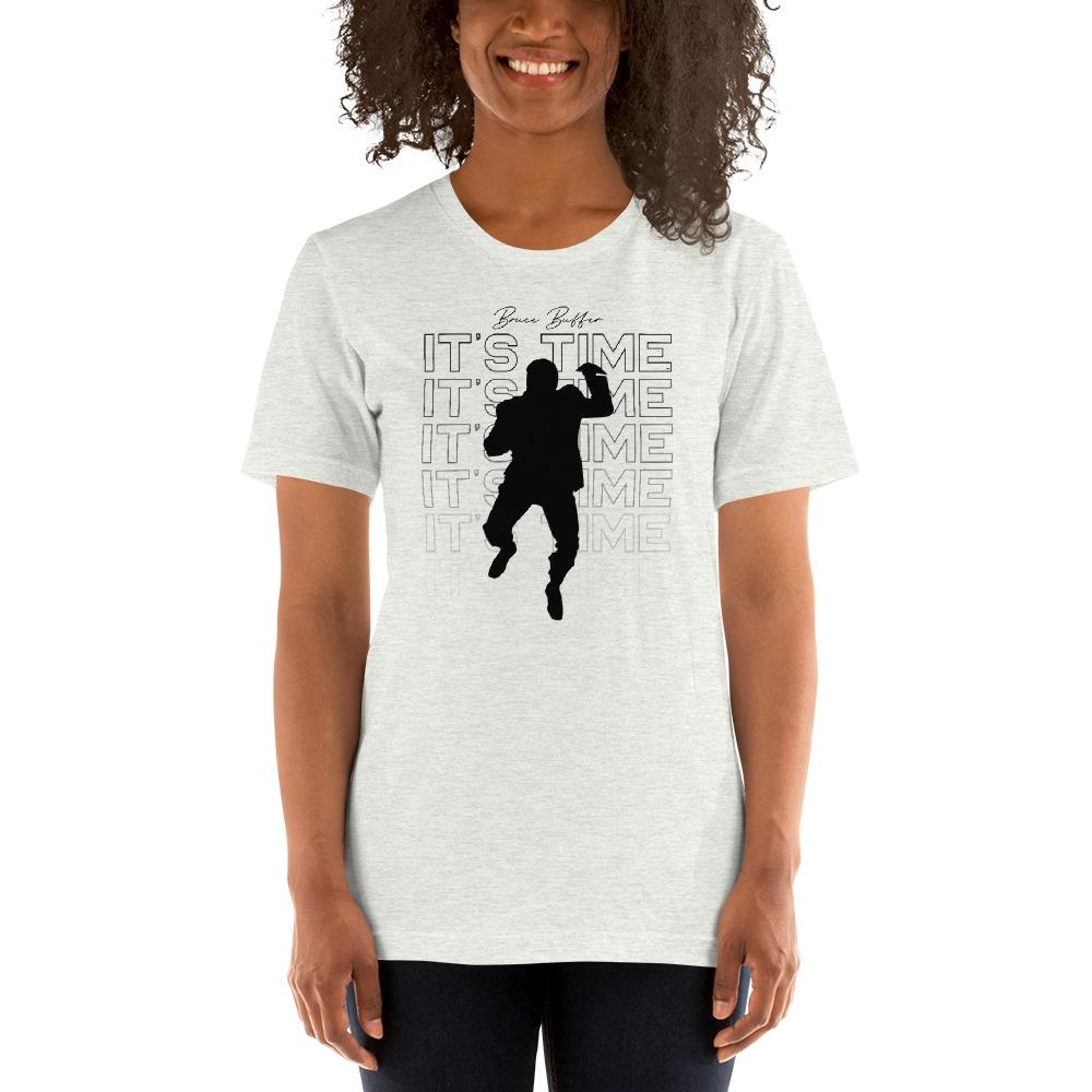 It's Time™ by Bruce Buffer, Women's T-Shirt, Black Logo