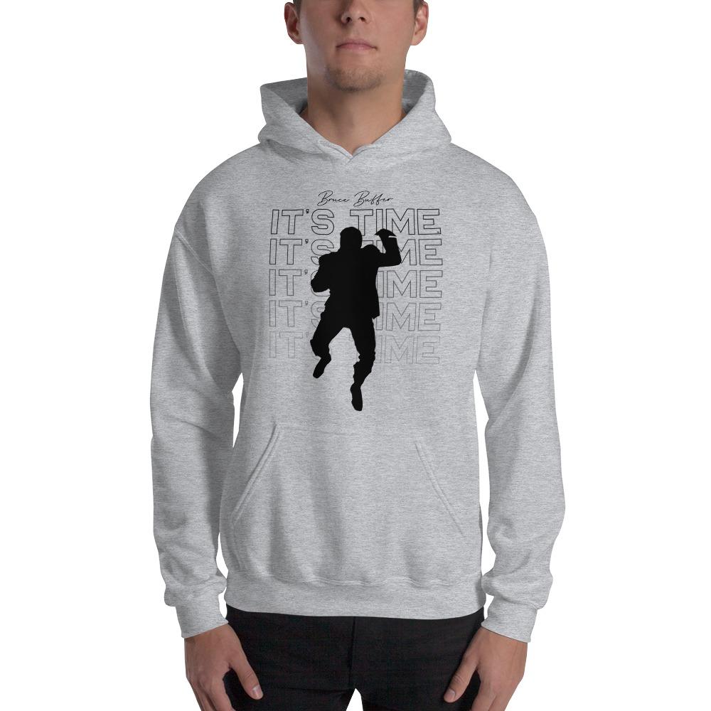 It's Time™ by Bruce Buffer, Men's Hoodie, Black Logo