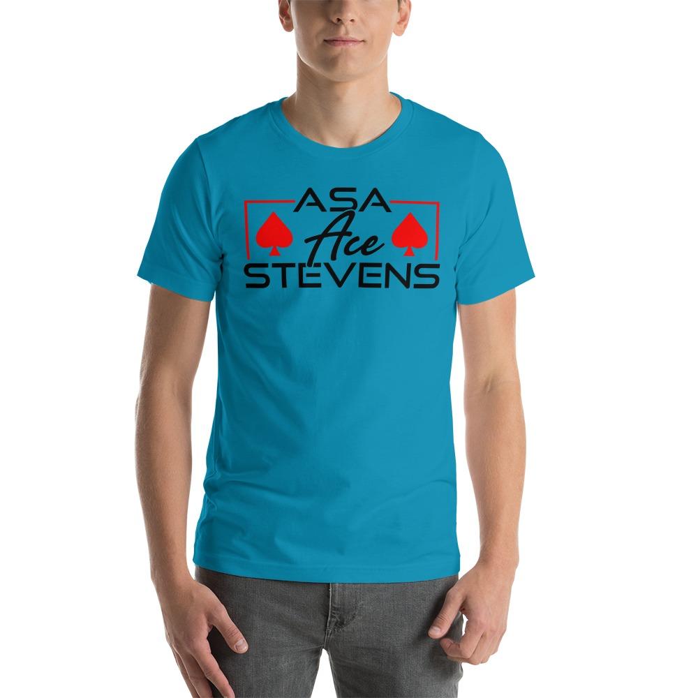"""Asa """"Ace"""" Stevens, Men's T-shirt, Black Logo"""