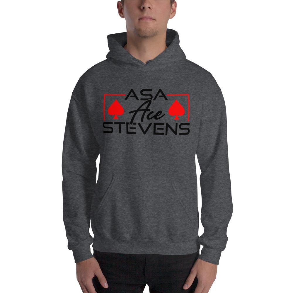 """Asa """"Ace"""" Stevens, Men's Hoodie, Black Logo"""