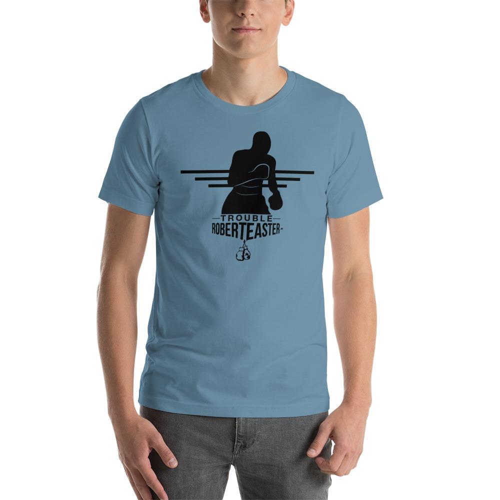 """Trouble"" by Robert Easter Jr, Men's T-shirt, Black Logo"