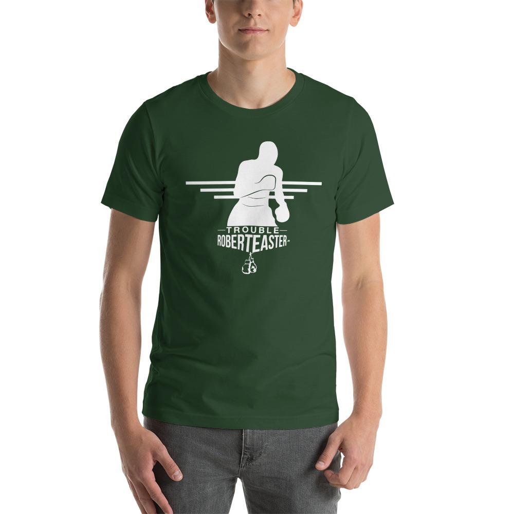 """Trouble"" by Robert Easter Jr, Men's T-shirt, White Logo"