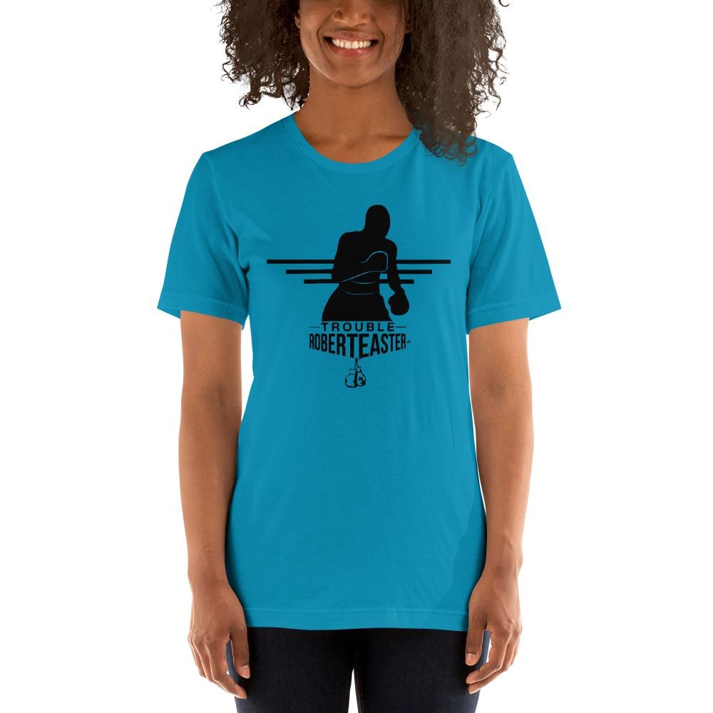 """Trouble"" by Robert Easter Jr, Women's T-shirt, Black Logo"