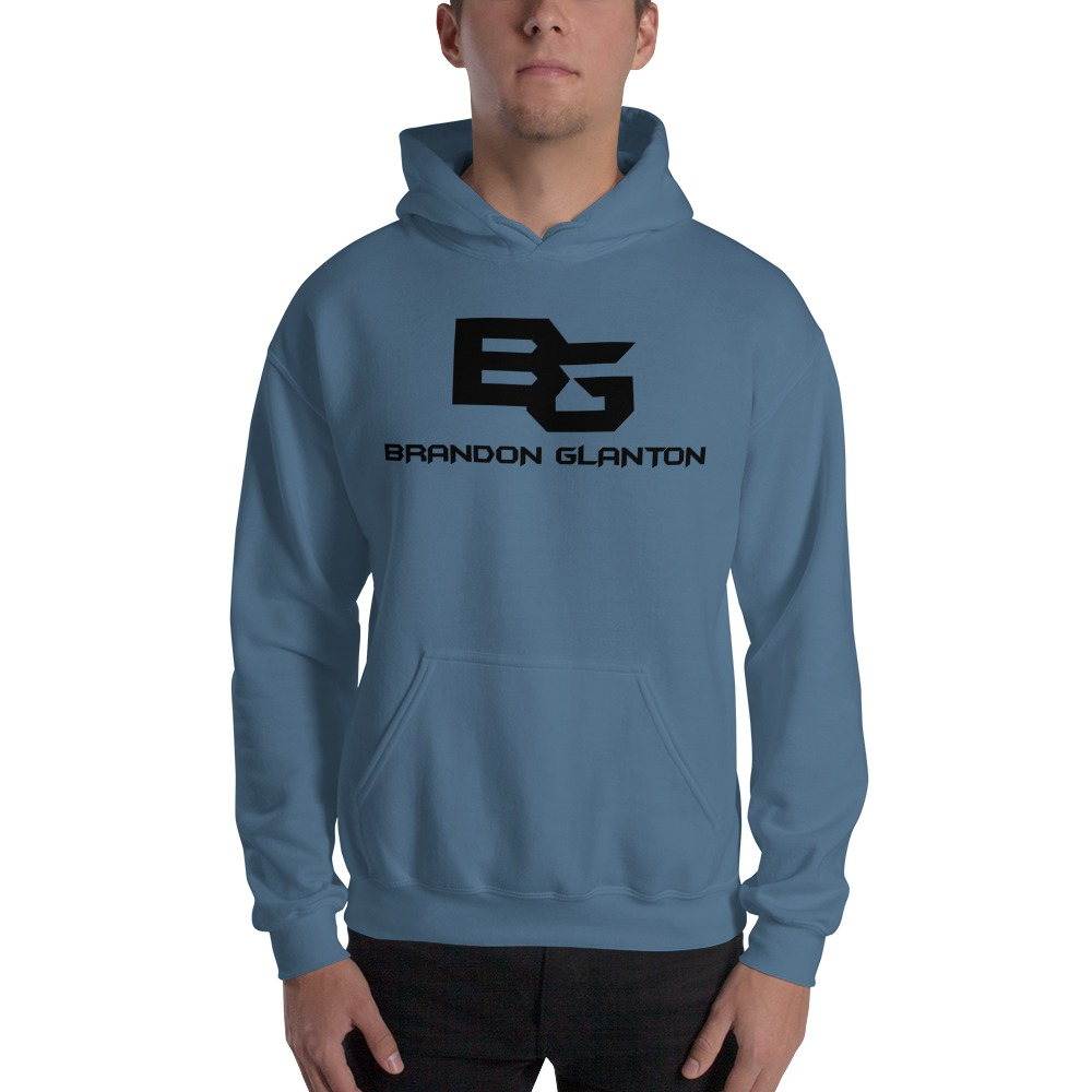 Brandon Glanton Men's Hoodies, Black Logo