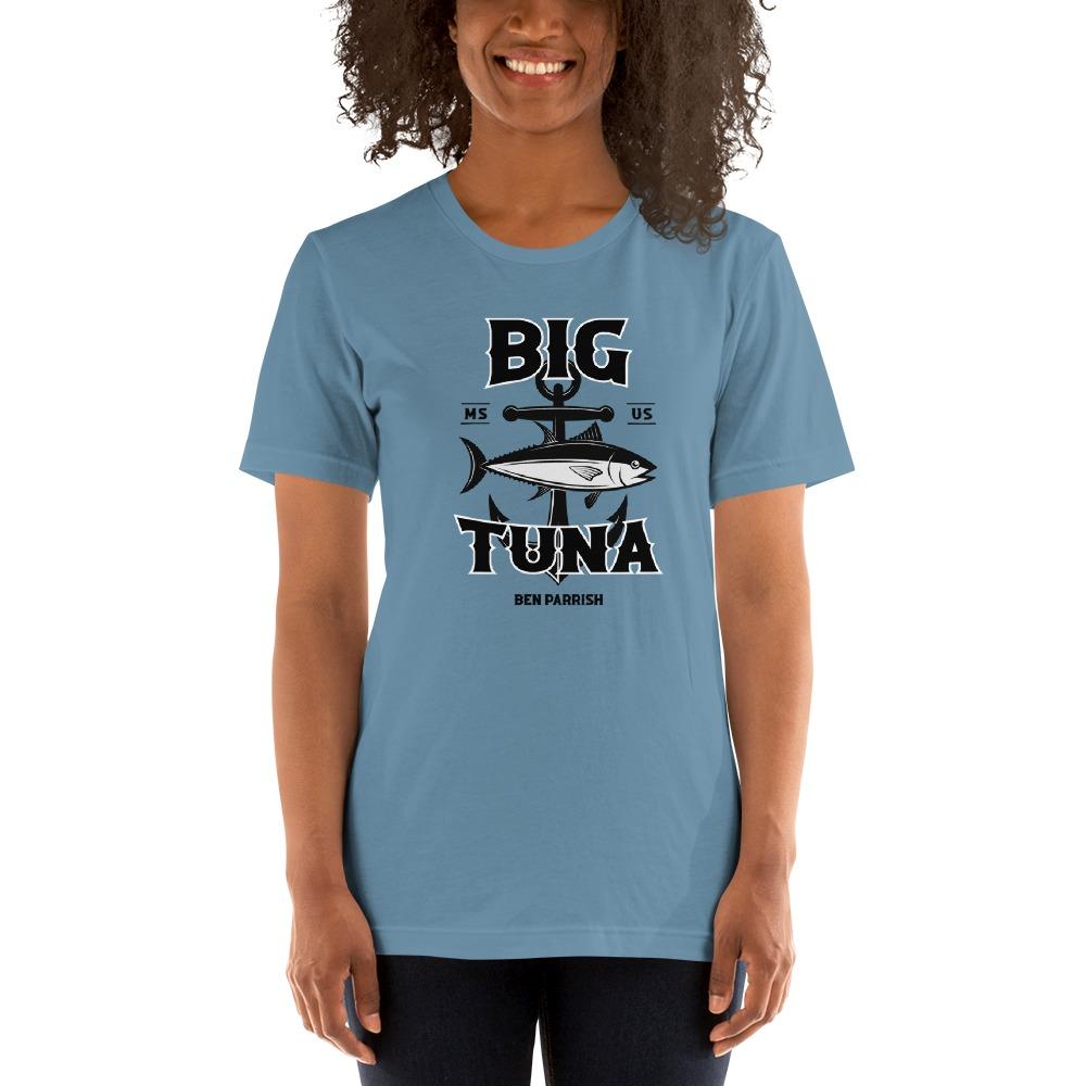 "Ben ""Big Tuna"" Parrish Women's T-shirt, Black Logo"