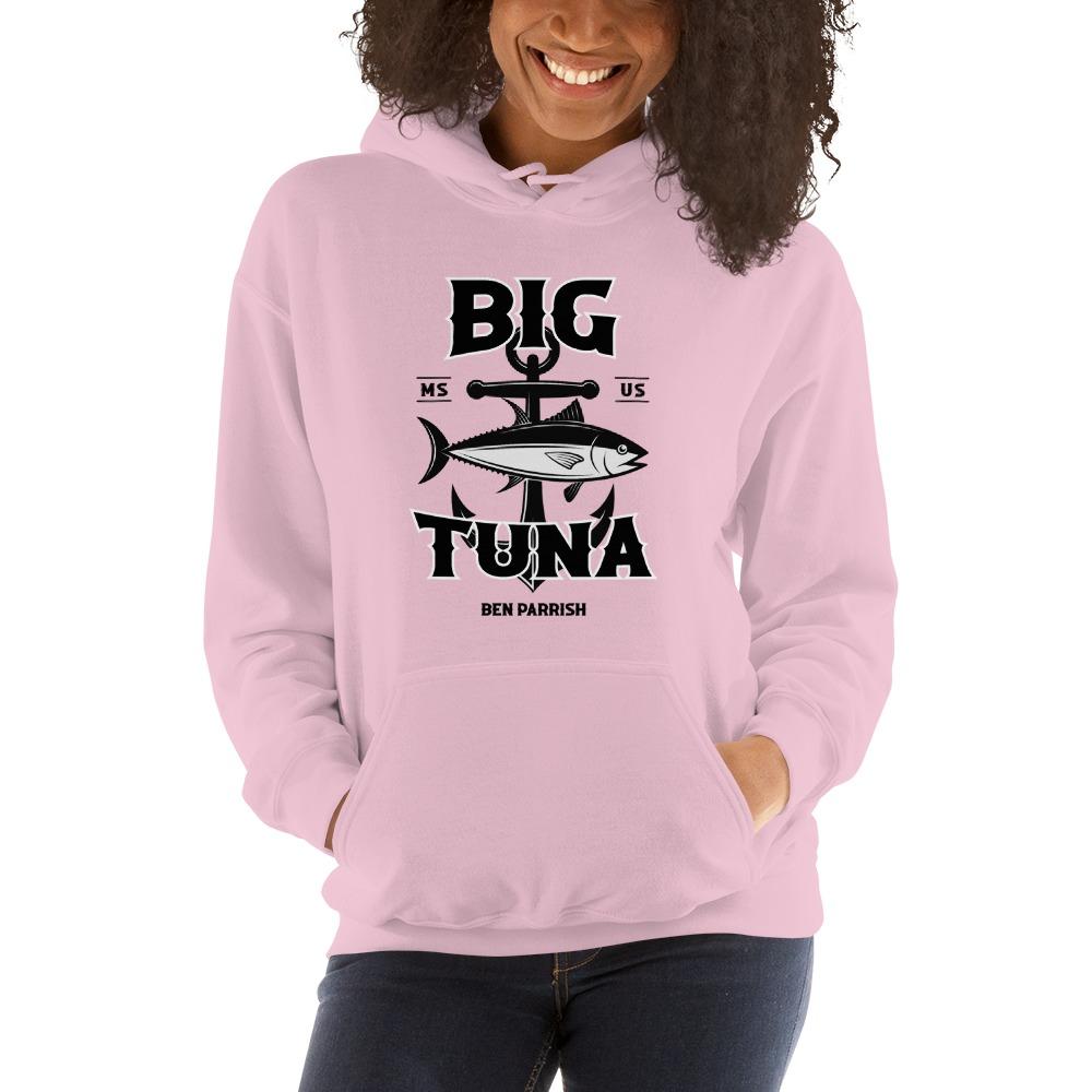 "Ben ""Big Tuna"" Parrish Women's Hoodies, Black Logo"