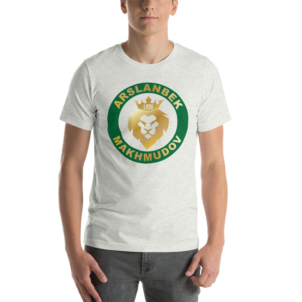 Lion's Head by Arslanbek Makhmudov Men's T-shirt, Gold Logo