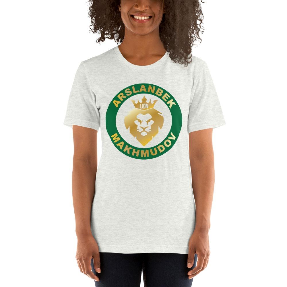 Lion's Head by Arslanbek Makhmudov Women's T-shirt, Gold Logo