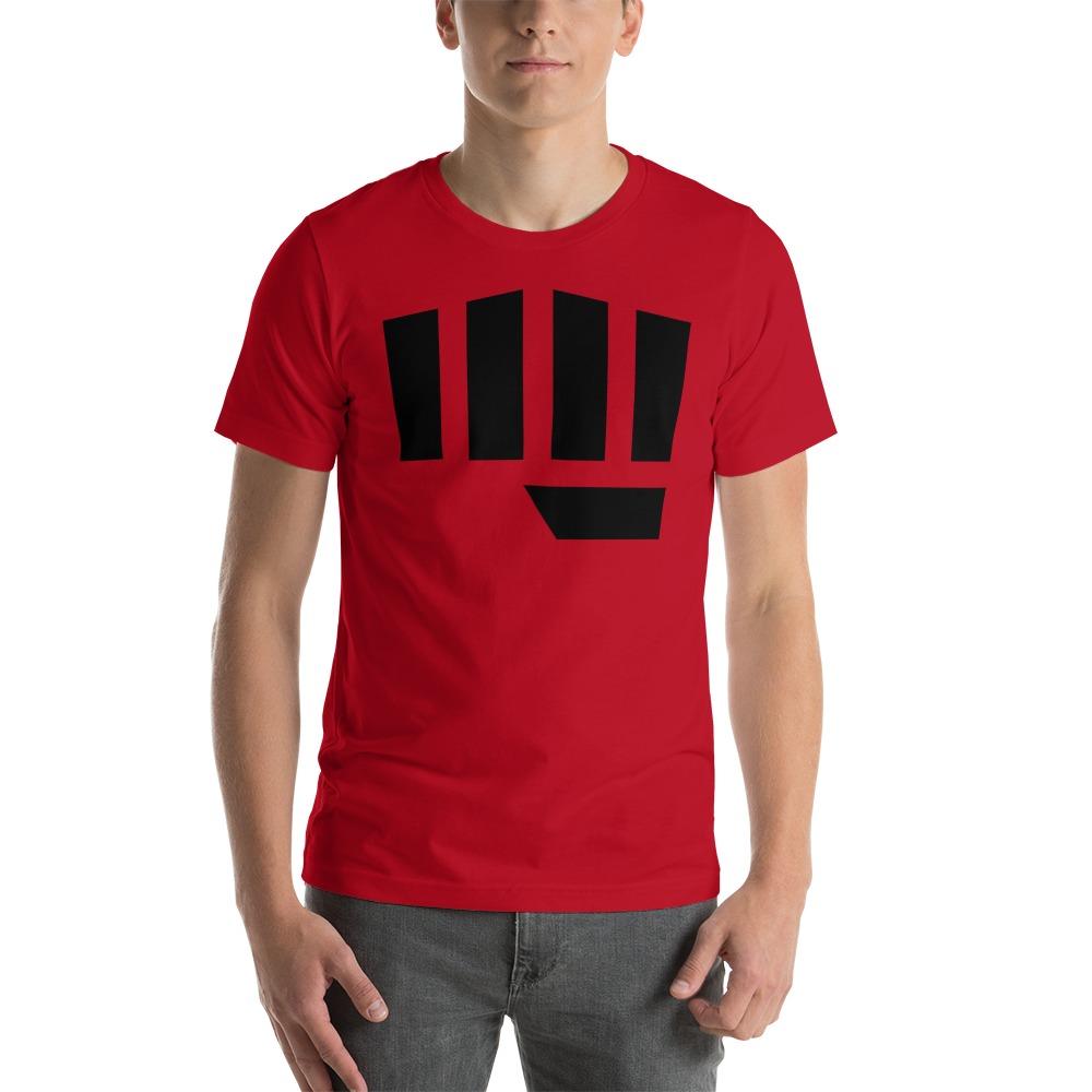 Fist Bump Men's T-shirt, Black Logo