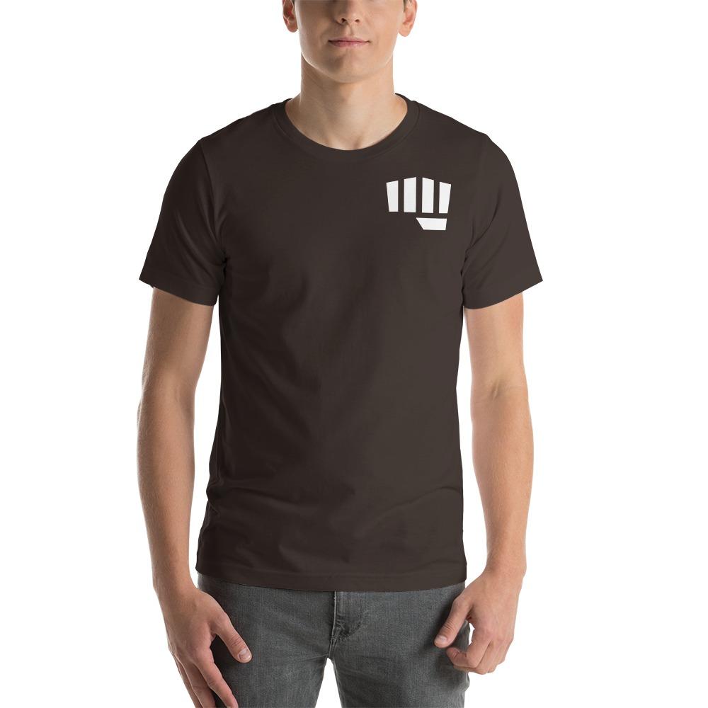 Fist Bump Men's T-shirt, White Mini Logo