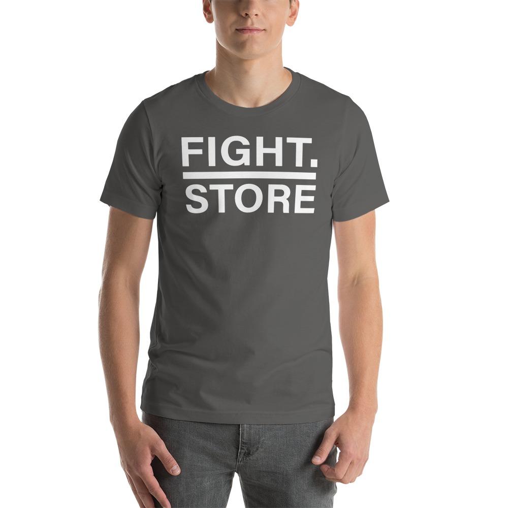 Fight Store Men's T-shirt, White Logo