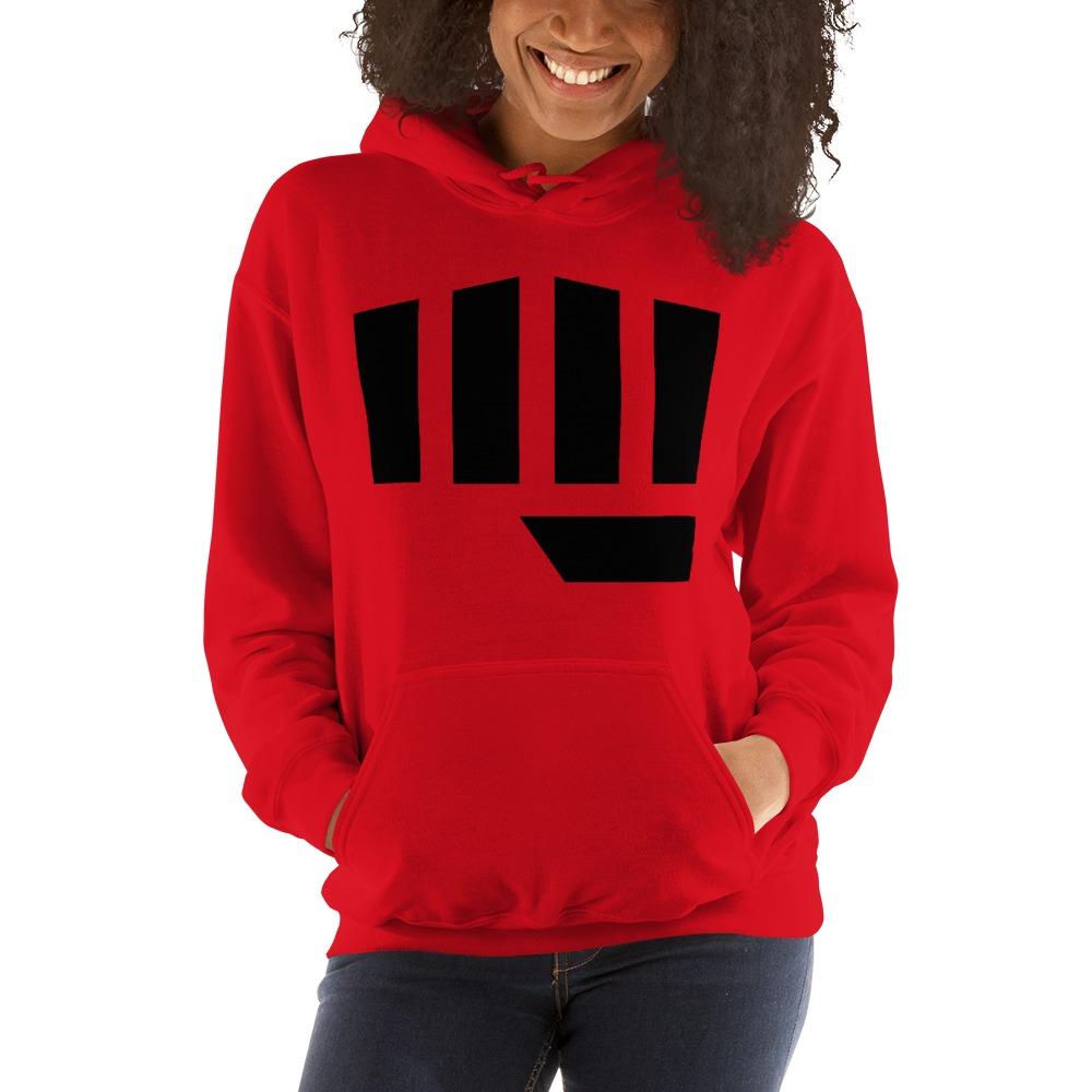 Fist Bump Women's Hoodie, Black Logo
