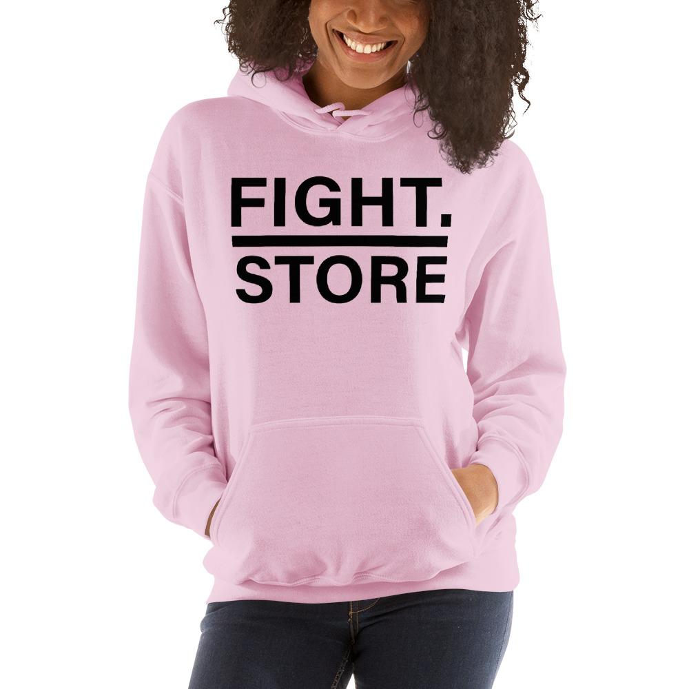 Fight Store Women's Hoodie, Black Logo
