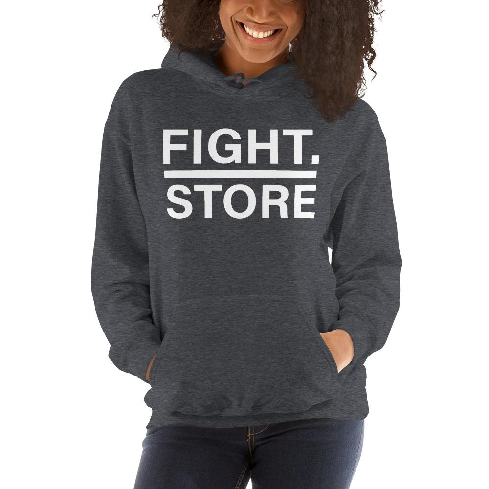 Fight Store Women's Hoodie, White Logo