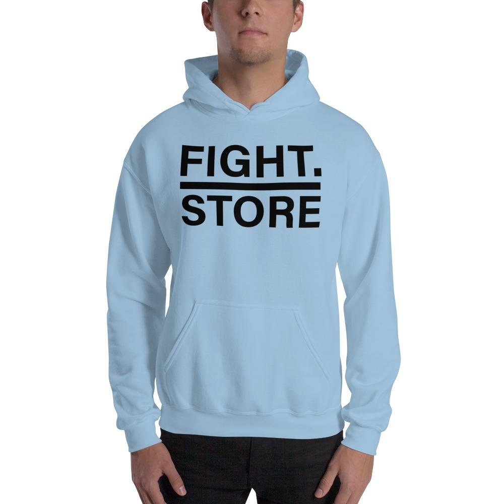 Fight Store Men's Hoodie, Black Logo