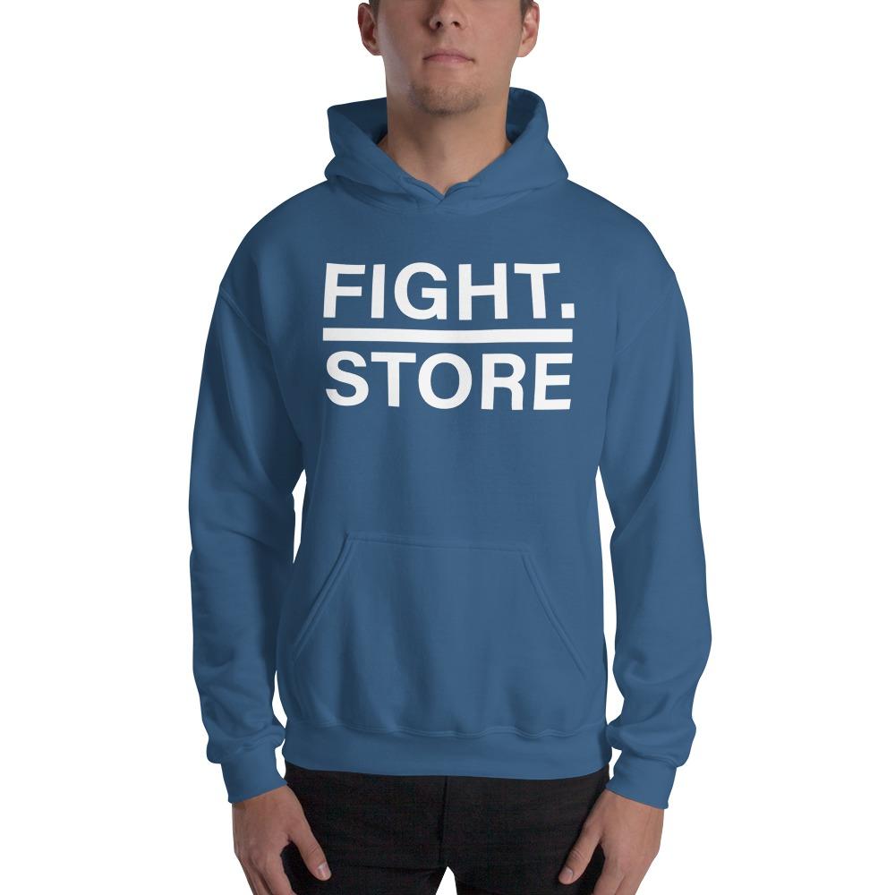 Fight Store Men's Hoodie, White Logo