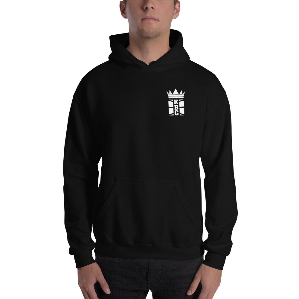Kingsway Boxing Club Men's Hoodie, White Mini Logo