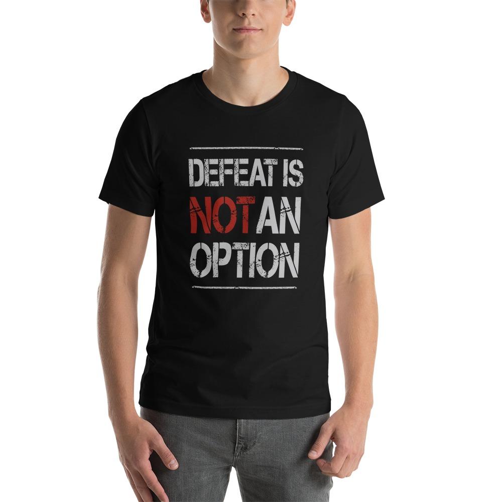 Kingsway Boxing Club Men's T-Shirt, No Defeat, White Logo