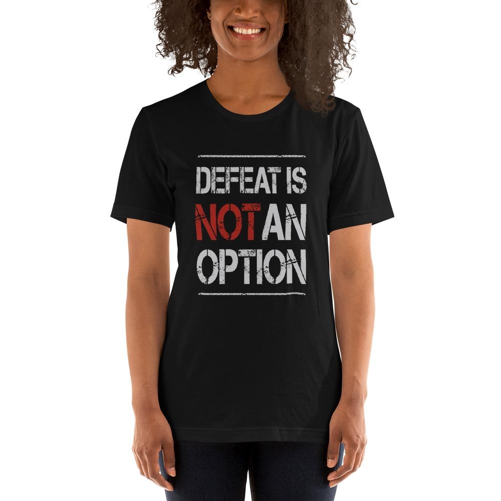 Kingsway Boxing Club Women's T-Shirt, No Defeat, White Logo