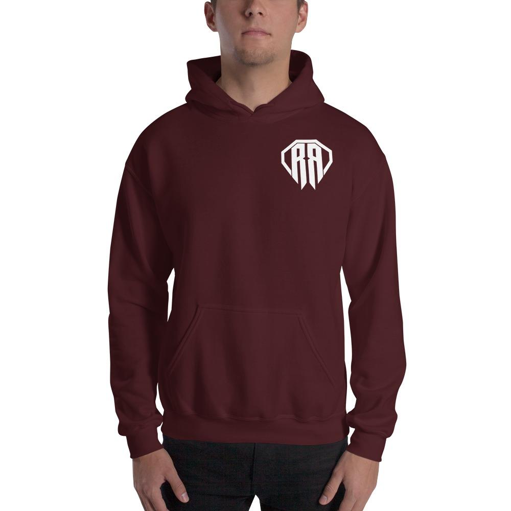 Rr By Ryan Roach, men's Hoodie, White Logo Mini