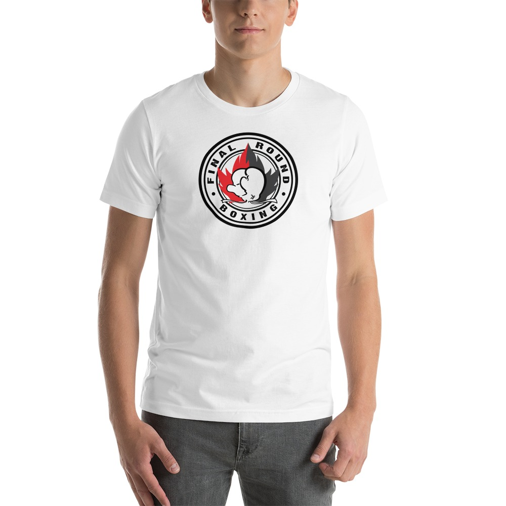 Final Round Men's T-shirt, Red And Black Logo