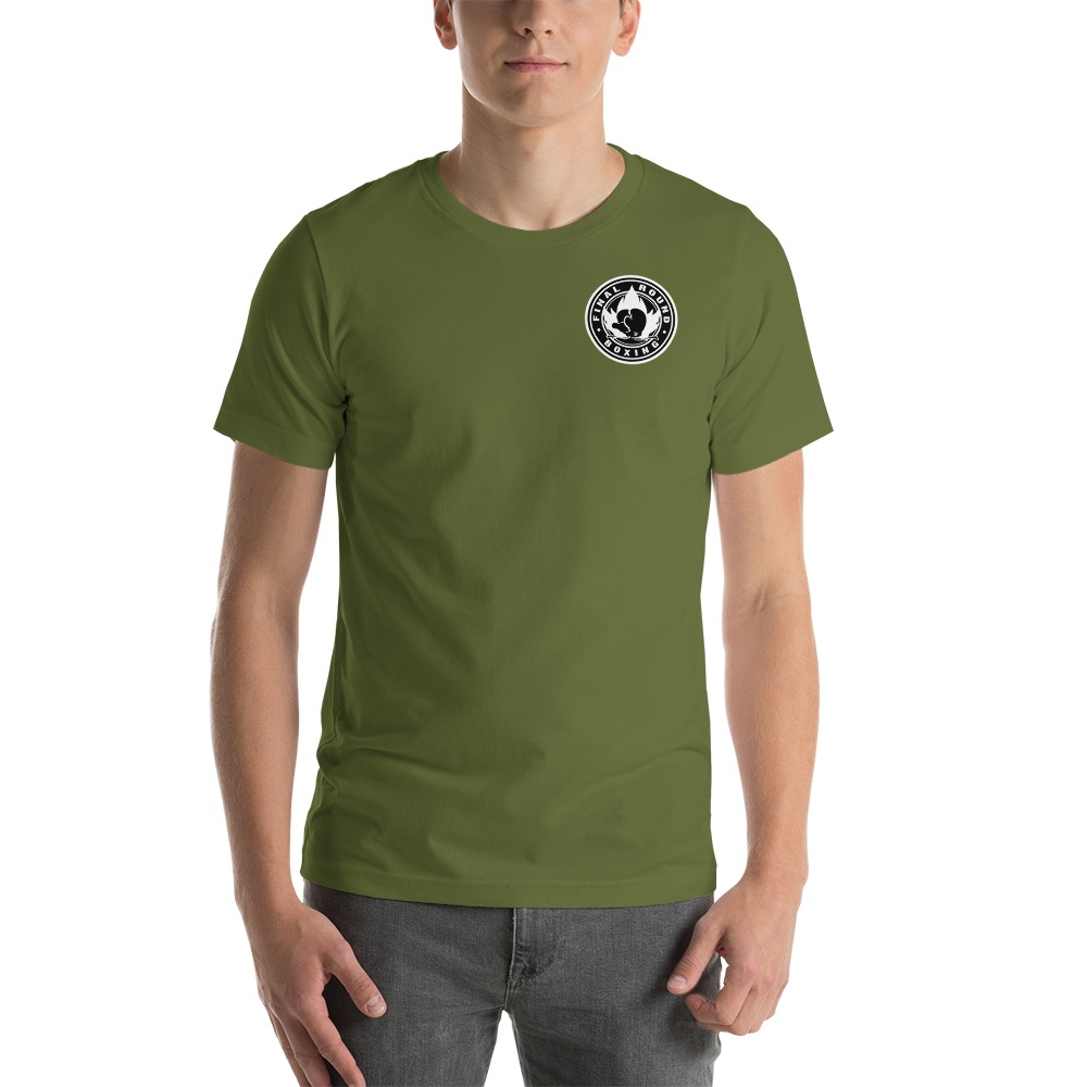 Final Round Men's T-shirt, Black & White Mini Logo