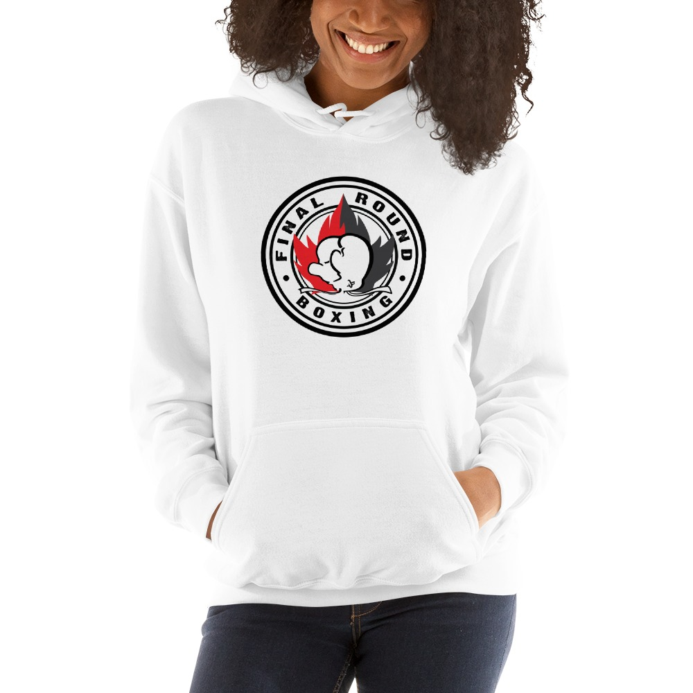 Final Round Women's Hoodie, Red And Black Logo