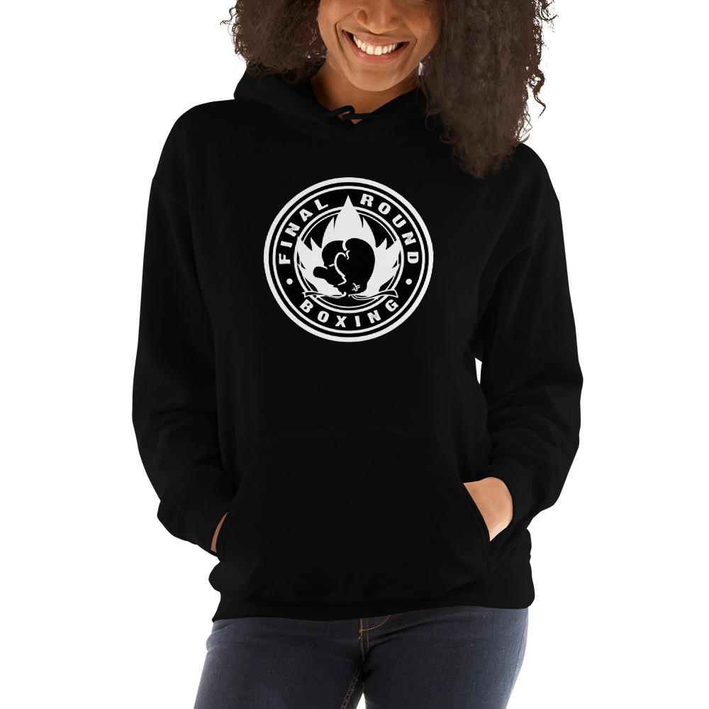 Final Round Women's Hoodie, Black & White Logo