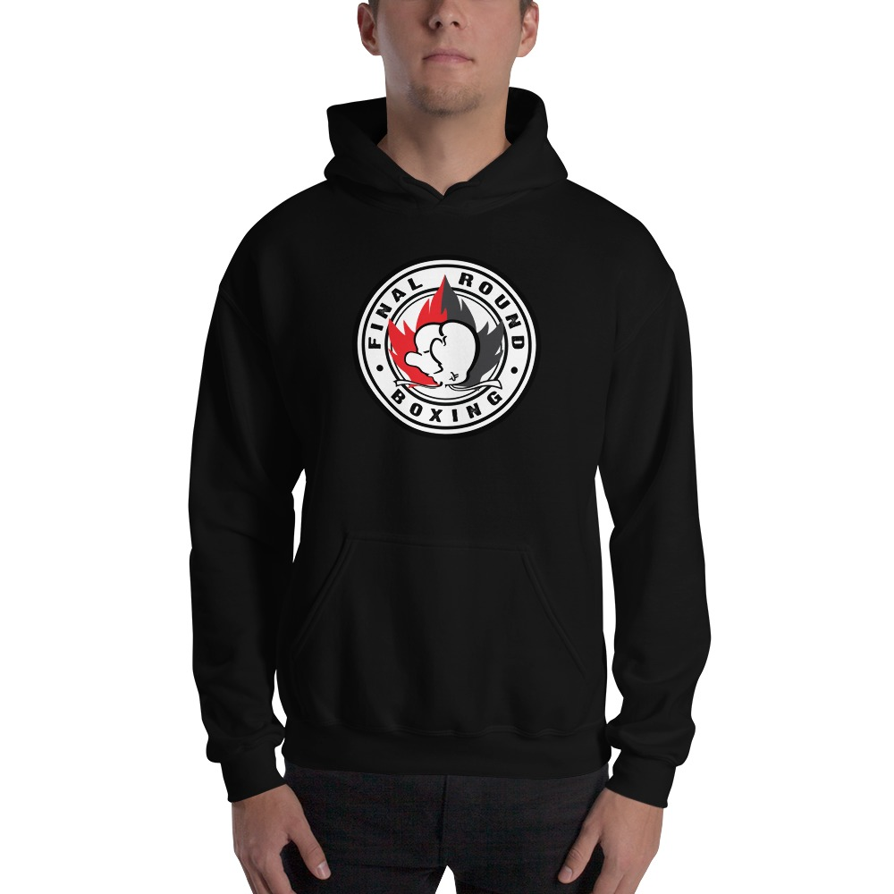 Final Round Men's Hoodie, Red And Black Logo