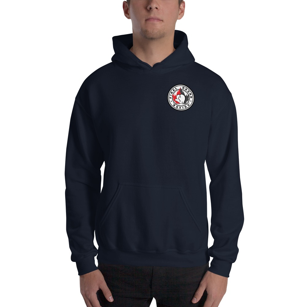 Final Round Men's Hoodie, Red And Black Mini Logo