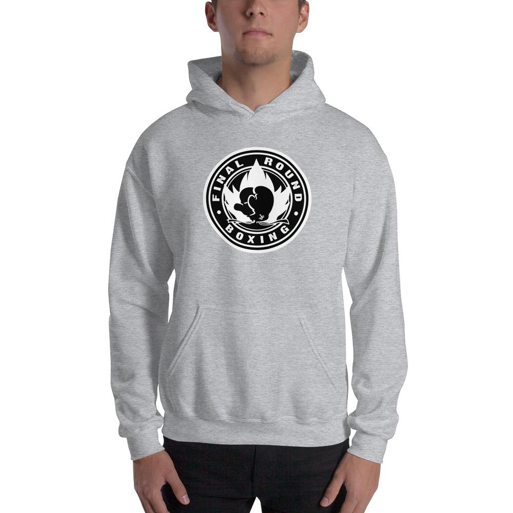 Final Round Men's Hoodie, Black & White Logo
