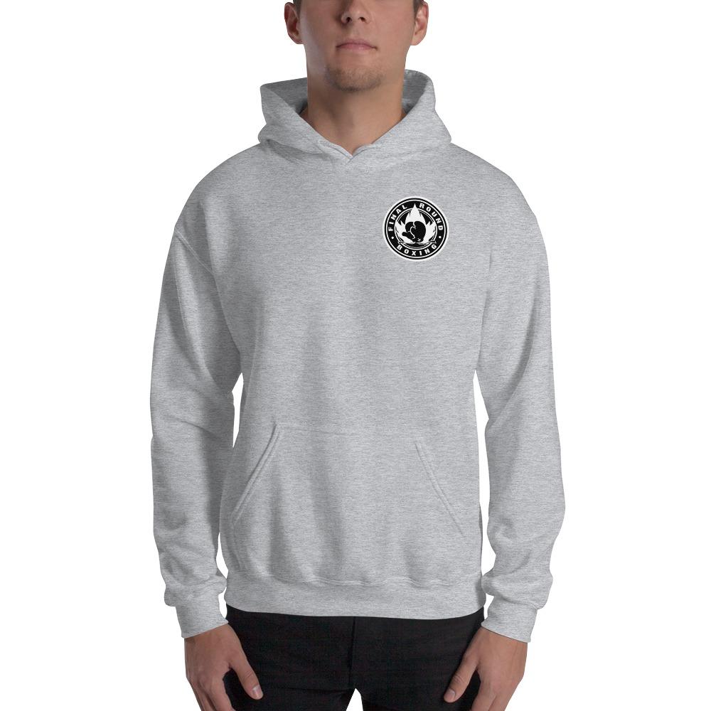 Final Round Men's Hoodie, Black & White Mini Logo