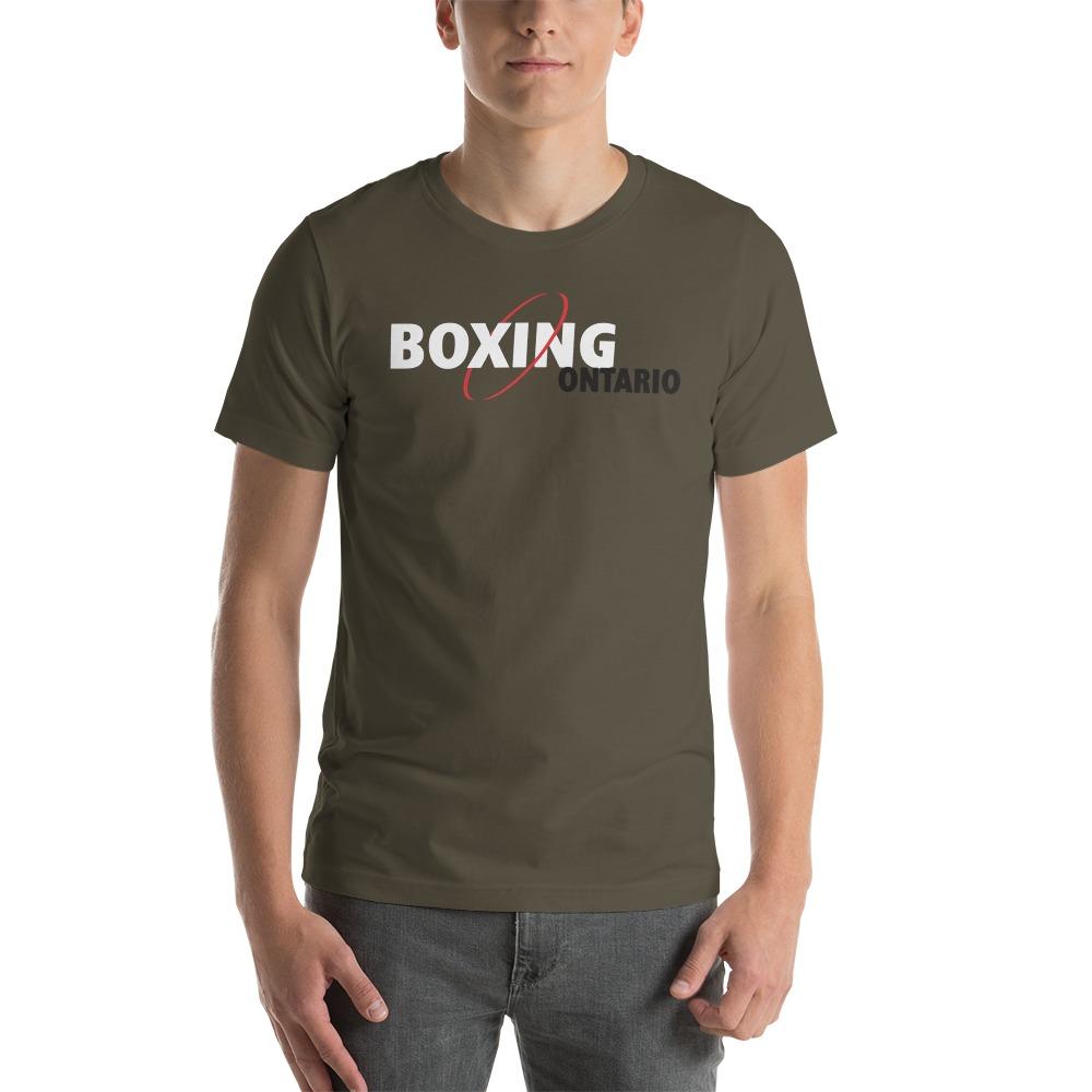 Boxing Ontario Men's T-shirt, Black Logo