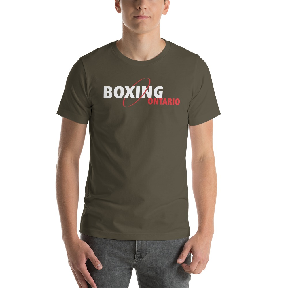 Boxing Ontario Men's T-shirt, Red Logo