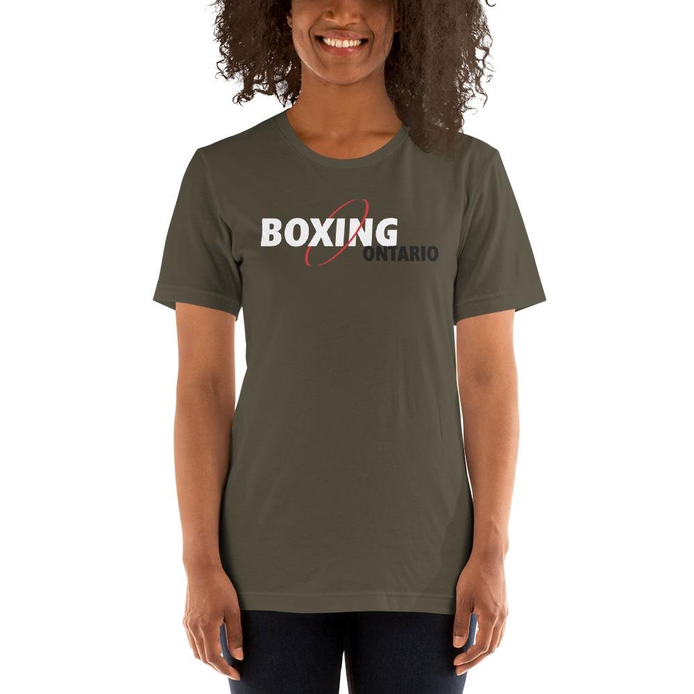 Boxing Ontario Women's T-shirt, Black Logo