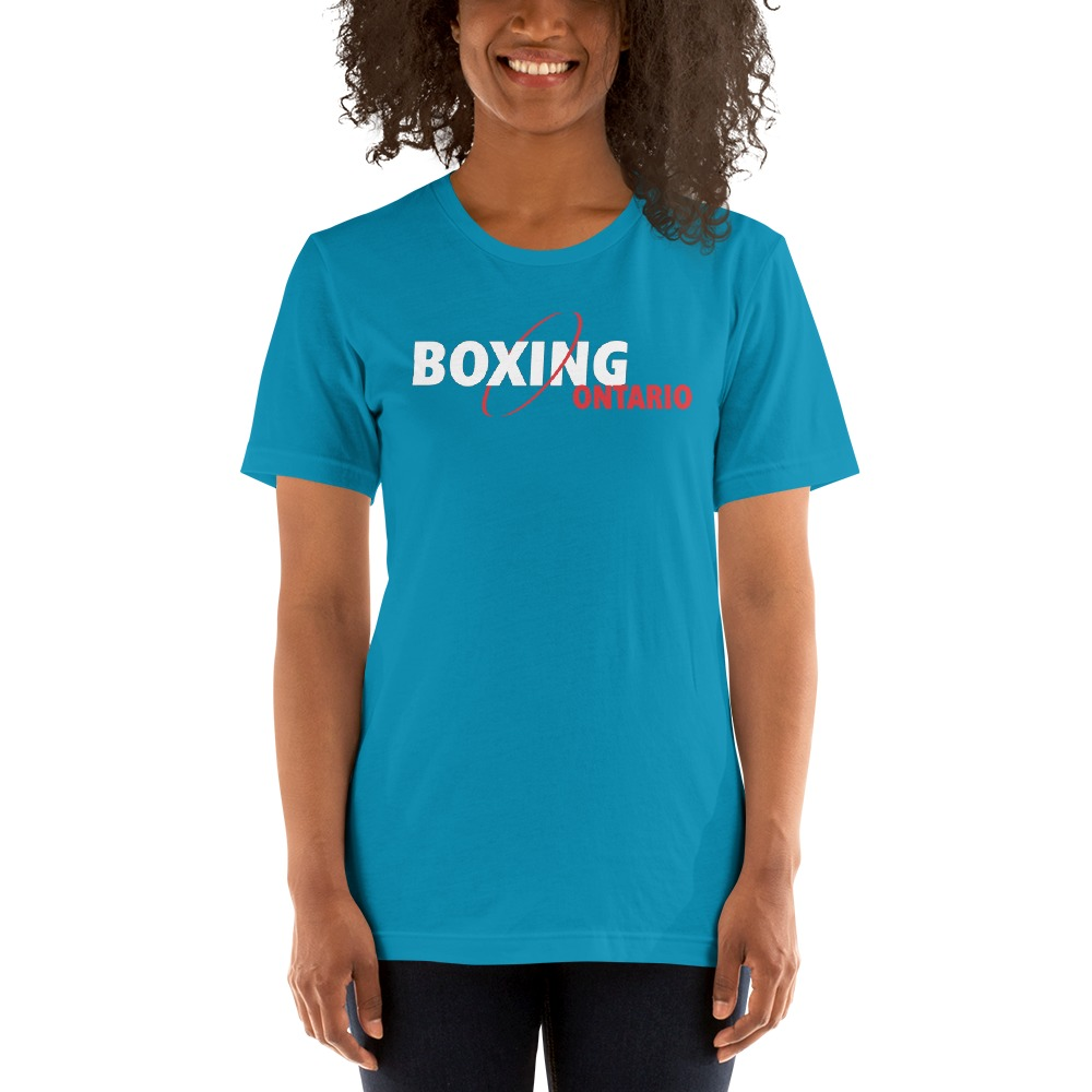Boxing Ontario Women's T-shirt, Red Logo