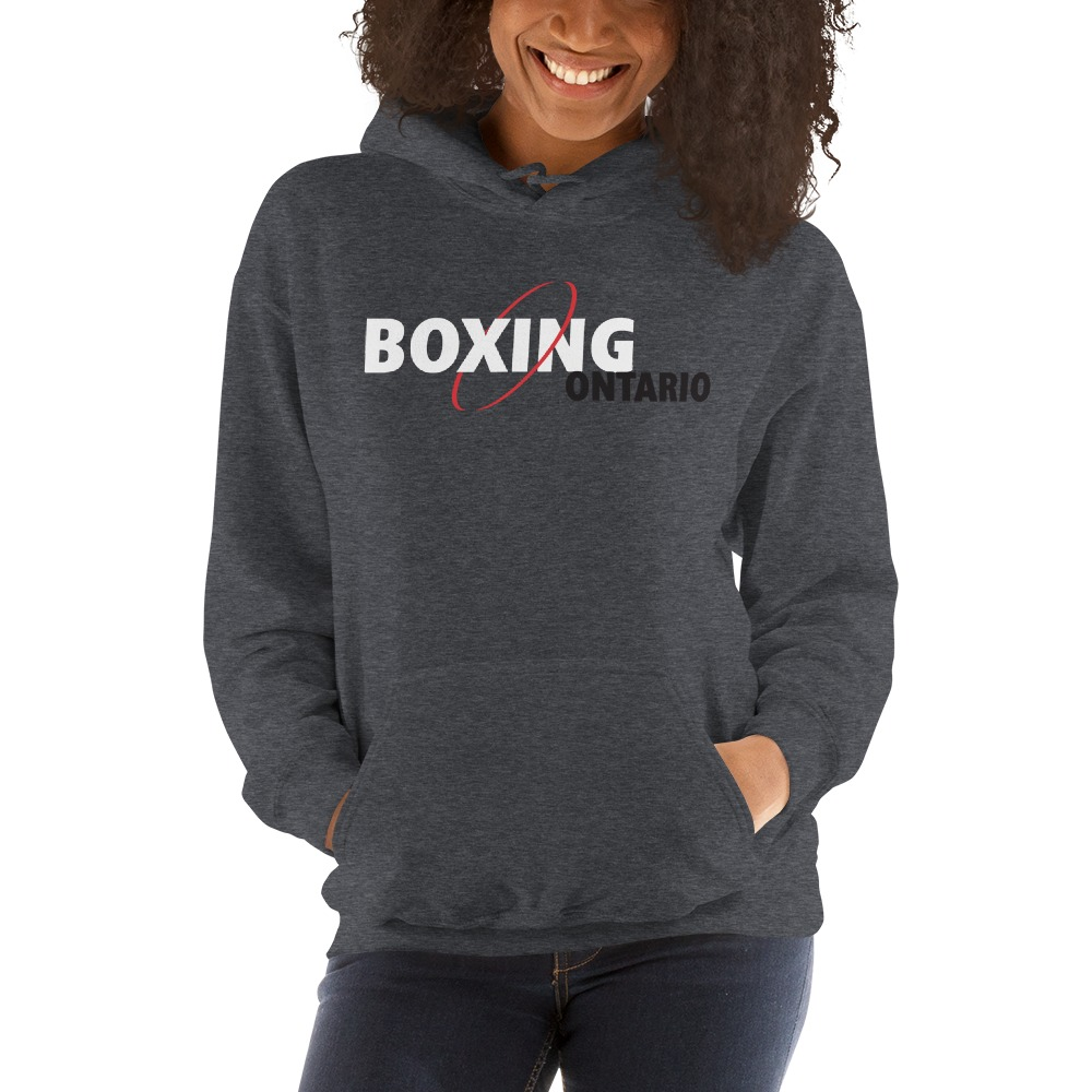 Boxing Ontario Women's Hoodie, Black Logo