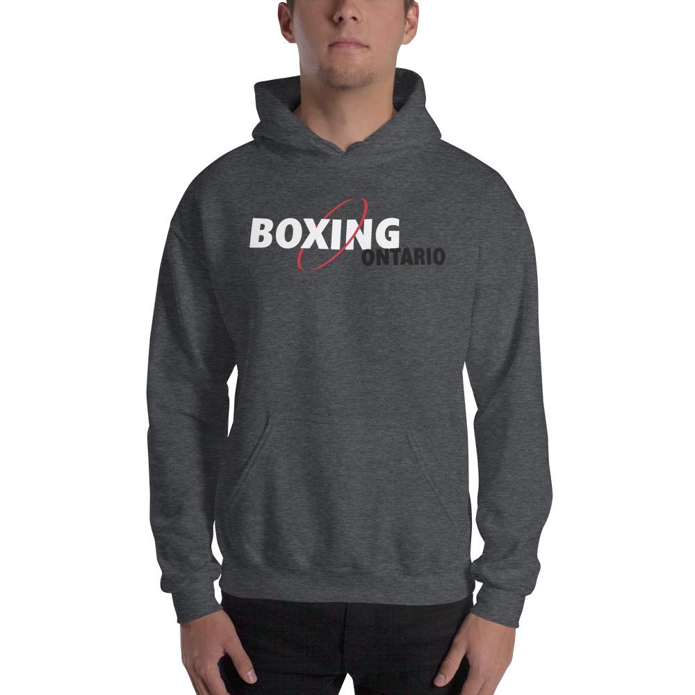 Boxing Ontario Men's Hoodie, Black Logo