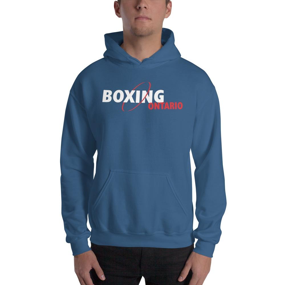 Boxing Ontario Men's Hoodie, Red Logo