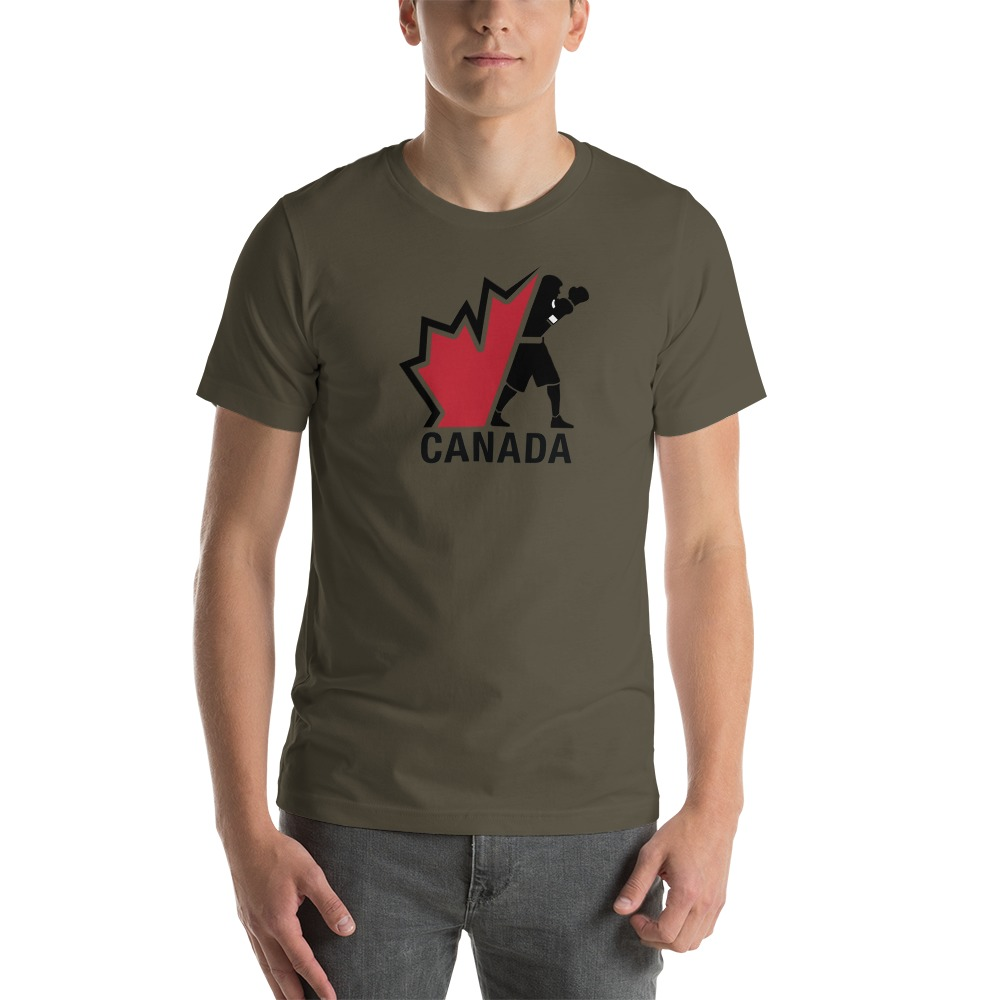 Boxing Canada Men's T-shirt, Dark Logo