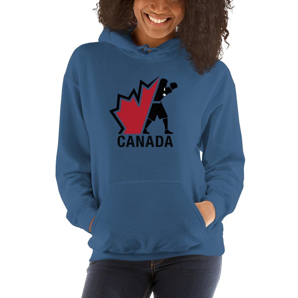 Boxing Canada Women's Hoodie, Dark Logo