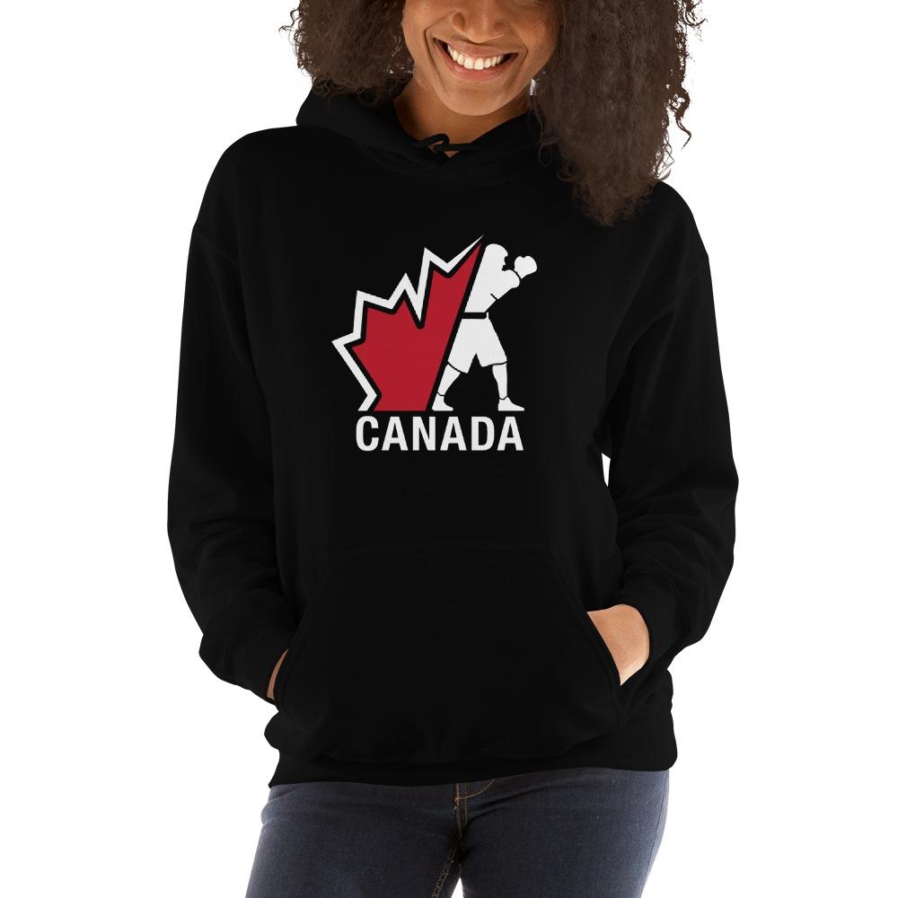 Boxing Canada Women's Hoodie, Light Logo
