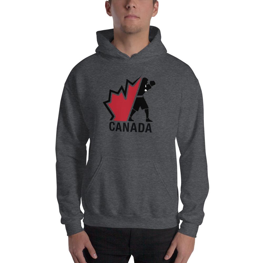 Boxing Canada Men's Hoodie, Dark Logo