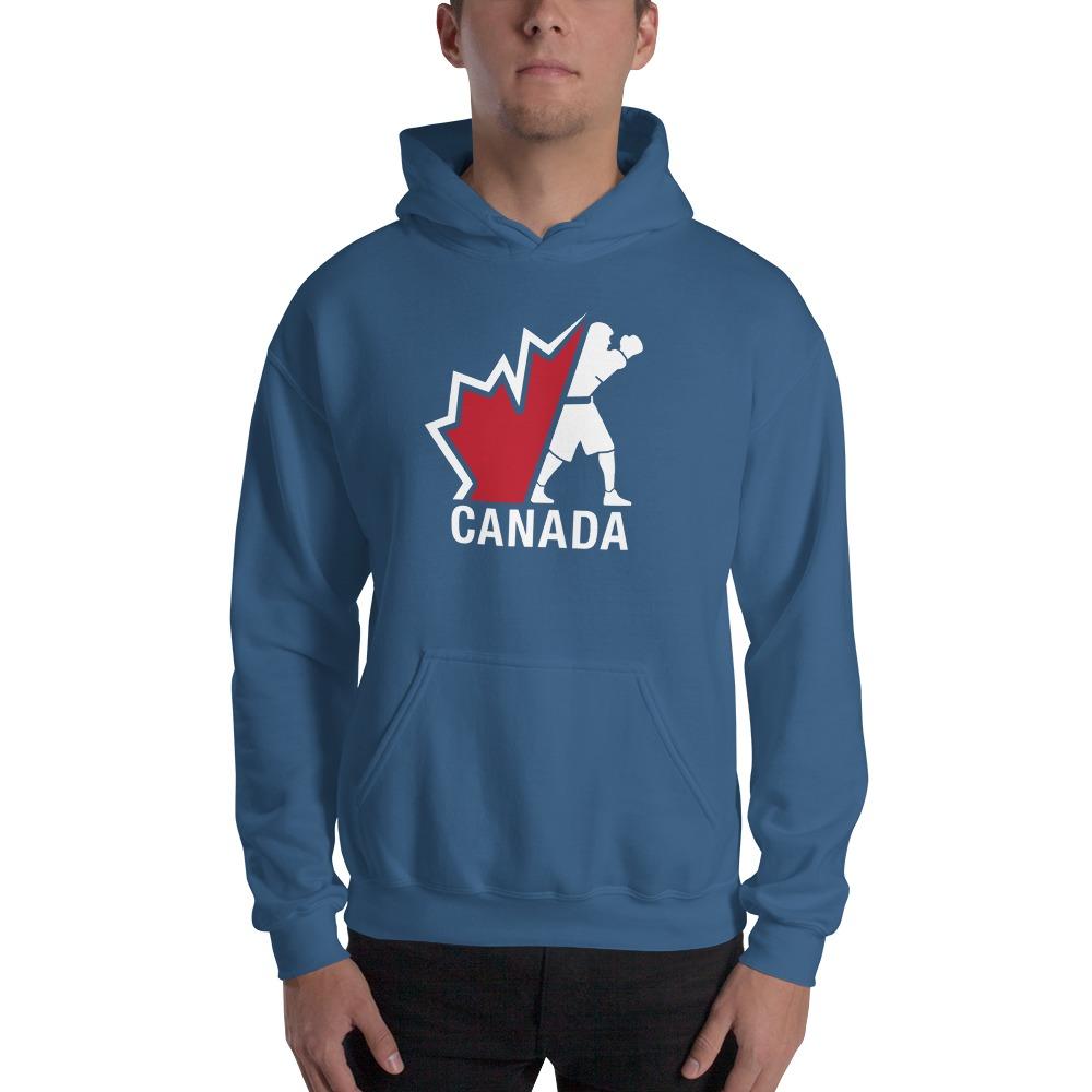 Boxing Canada Men's Hoodie, Light Logo