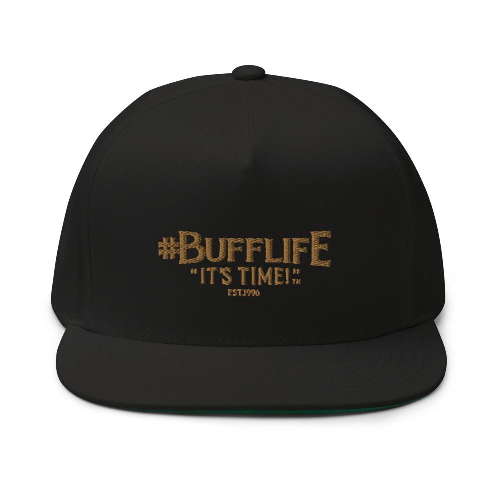 """BUFFLIFE"" BY BRUCE BUFFER HAT, OLD GOLD LOGO"